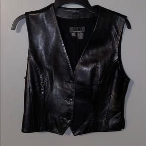 DKNY Black Leather Vest!🖤